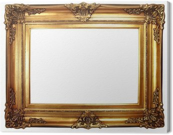 Obraz na Płótnie Stare złote ramki barokowa