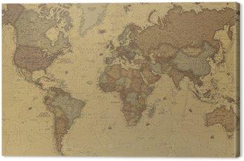Obraz na Płótnie Starożytne mapy świata
