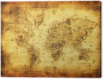 Obraz na Płótnie Starożytne mapy świata.