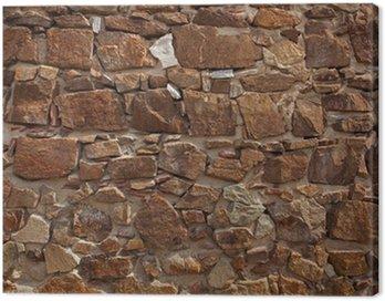 Obraz na Płótnie Starożytny mur z wielu cegieł