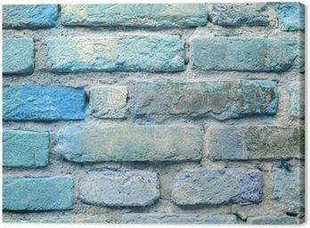 Obraz na Płótnie Stary ceglany mur w tle niebieski