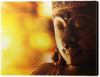 Obraz na Płótnie Statua Buddy z brązu