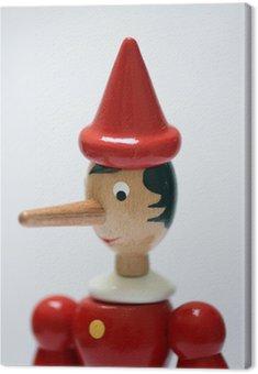 Obraz na Płótnie Statua Pinokio reprezentujących kłamcą