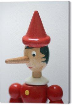 Statua Pinokio reprezentujących kłamcą
