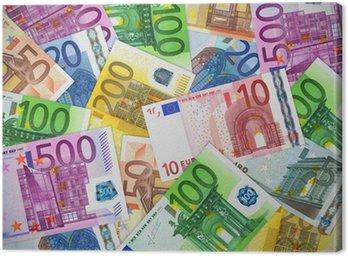 Obraz na Płótnie Sterty banknotów euro
