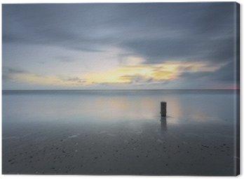 Stormy Seascape Zachód słońca w długich ekspozycji