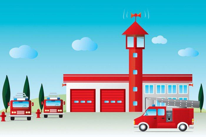 Obraz na Płótnie Straż pożarna - Fikcyjne zwierzęta