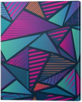 Obraz na Płótnie Streszczenie bezszwowe chaotyczny wzór z miejskich elementów geometrycznych. Grunge neon tekstury tła. Tapety dla chłopców i dziewczynek