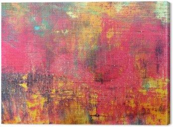 Obraz na Płótnie Streszczenie kolorowe ręcznie malowane na płótnie tekstury tła