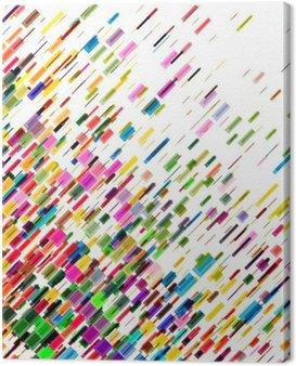 Obraz na Płótnie Streszczenie kolorowe ruchome linie, wektor tła