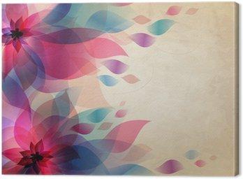 Obraz na Płótnie Streszczenie kolorowe tło z kwiatami, karty rocznika wakacje