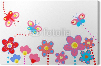 Obraz na Płótnie Streszczenie kwiatów tle