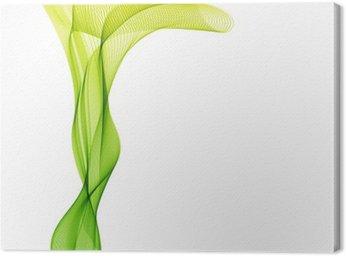 Obraz na Płótnie Streszczenie liight zielona fala wektor pionowe linie tła