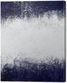 Obraz na Płótnie Streszczenie malowane tło w kolorze ciemny niebieski i biały z pustym miejscem na tekst