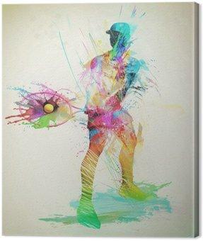 Obraz na Płótnie Streszczenie tenisista