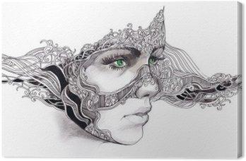 Obraz na Płótnie Streszczenie twarz kobiety
