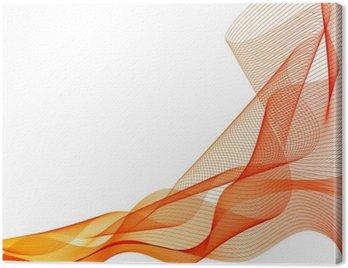 Obraz na Płótnie Streszczenie wektora pomarańczowe tło fala machnął linii