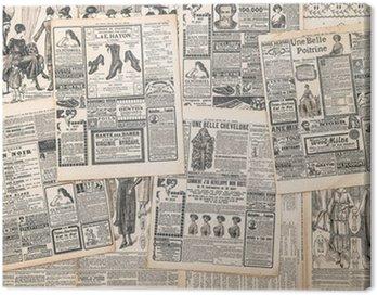 Obraz na Płótnie Strony gazet z antykami ogłoszenia
