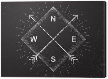 Obraz na Płótnie Strzałki, kompas, grunge projektowania, ilustracji wektorowych