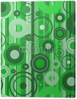 Obraz na Płótnie Stylowe zielone tło. Ilustracji wektorowych