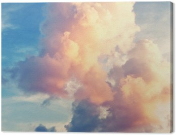 Obraz na Płótnie Sunny sky background in vintage retro style