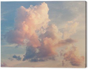 Obraz na Płótnie Sunny tle nieba w klasycznym stylu retro