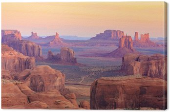 Obraz na Płótnie Sunrise w Hunts Mesa w Monument Valley, Arizona, USA