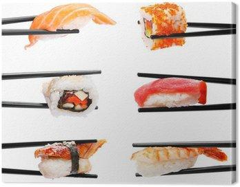 Obraz na Płótnie Sushi pałeczkami