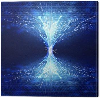 Obraz na Płótnie Światłowody i płytka, tło technologia