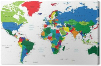 Obraz na Płótnie Światowa mapa-państwa
