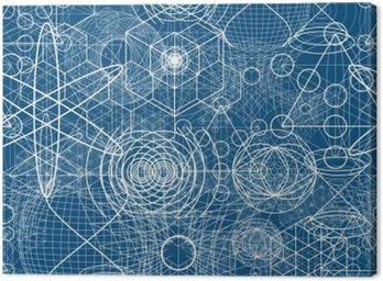 Obraz na Płótnie Święte symbole i elementy geometryczne tapety Jednolite wzór