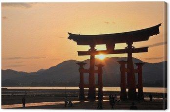Obraz na Płótnie Świetne Torii Miyajima, Japonia