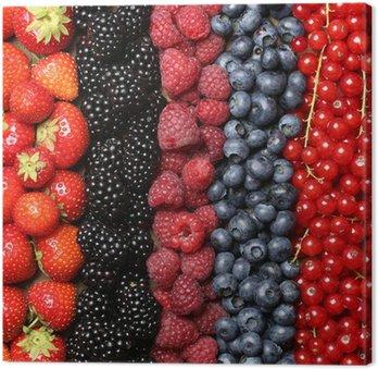 Obraz na Płótnie Świeże owoce jagodowe tła