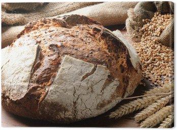 Obraz na Płótnie Świeżo upieczony chleb tradycyjny