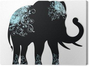 Obraz na Płótnie Sylwetka słonia