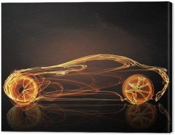 Obraz na Płótnie Symbol światła samochodów