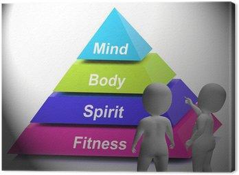 Obraz na Płótnie Symbol zdrowia pokazuje siłę fitness i dobre samopoczucie