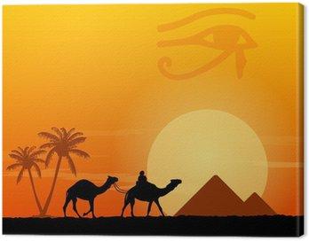 Obraz na Płótnie Symbole Egipt i piramidy