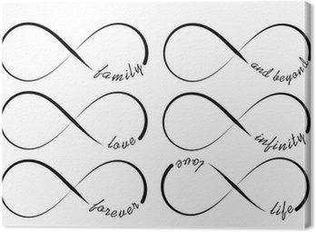 Obraz na Płótnie Symbole nieskończoność