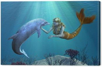 Obraz na Płótnie Syrena z Dolphin podmorski