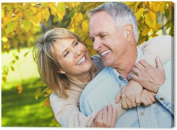 Obraz na Płótnie Szczęśliwa para starszych.