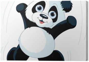 Obraz na Płótnie Szczęśliwy panda