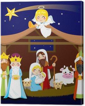 Obraz na Płótnie Szopka Boże Narodzenie