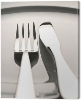 Obraz na Płótnie Sztućce i talerze