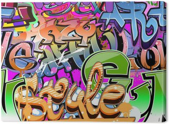 Obraz na Płótnie Sztuka miejska. grunge graffiti, hip-hop projektowania