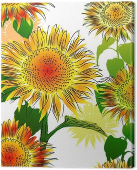 Obraz na Płótnie Szwu z Słoneczniki