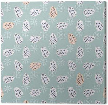 Obraz na Płótnie Szyszka Jednolite wektor wzorca. Blue Pine projekt papieru notatniku. Niebieskie tło.