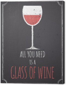 Obraz na Płótnie Tablica czerwony design wina