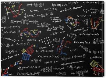 Obraz na Płótnie Tablica z matematyki szkice - ilustracji wektorowych
