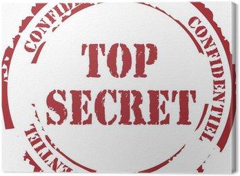 """Obraz na Płótnie Tampon """"Top Secret"""""""